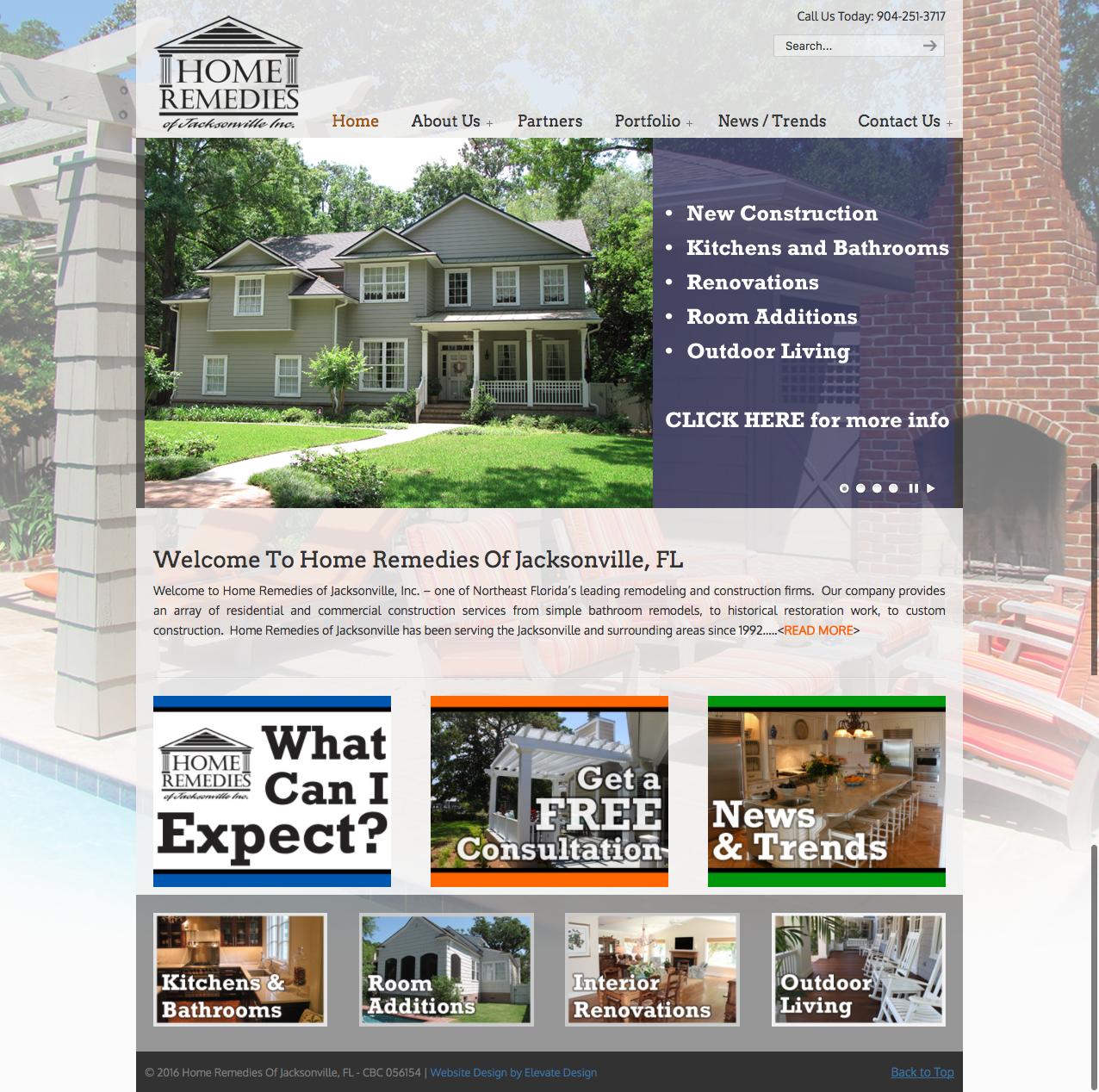 Construction company website wordpress website design for Home construction websites
